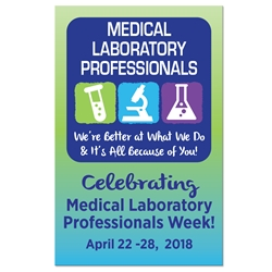 "Medical Laboratory Professionals Week Theme 11 x 17"" Posters (Sold in Packs of 5) Medical Laboratory Professionals, Week, Theme, Poster, Celebration Poster, Lab, Appreciation Day, Recognition Theme Poster,"