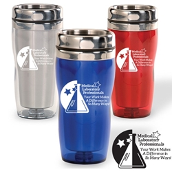 Medical Laboratory Professionals: Your Work Makes A Difference In So Many Ways! Curvy Tumbler Medical Laboratory Week theme, curvy tumbler, tumbler, beverage holder, travel tumbler, drinkware, sporty, promotional products
