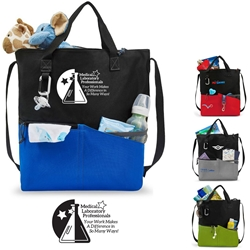 Medical Laboratory Professionals: Your Work Makes A Difference In So Many Ways! Synergy All-Purpose Tote All-Purpose Tote, Tote Bag, Everyday Tote, Promotional, Imprinted, with name on it, logo, custom bag, gift bag, baby bag, diaper bag, fashion bag