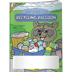Meet Rocky the Recycling Raccoon Coloring Book Meet Rocky the Recycling Raccoon Coloring Book, BetterLifeLine, BetterLife, Education, Educational, information, Informational, Wellness, Guide, Brochure, Paper, Low-cost, Low-Price, Cheap, Instruction, Instructional, Booklet, Small, Reference, Interactive, Learn, Learning, Read, Reading, Health, Well-Being, Living, Awareness, ColoringBook, ActivityBook, Activity, Crayon, Maze, Word, Search, Scramble, Entertain, Educate, Activities, Schools, Lessons, Kid, Child, Children, Story, Storyline, Stories, Green, Environmental, Environment, Eco, Ecology, Ecosystem, Sustainable, Recycle, Recycling, Solar, Renewable, LEED, Natural, World, Earth, Green Peace, Imprinted, Personalized, Promotional, with name on it, Giveaway,