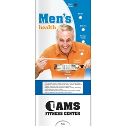 Mens Health Pocket Slider BetterLifeLine, BetterLife, Education, Educational, information, Informational, Wellness, Guide, Brochure, Paper, Low-cost, Low-Price, Cheap, Instruction, Instructional, Booklet, Small, Reference, Interactive, Learn, Learning, Read, Reading, Health, Well-Being, Living, Awareness, PocketSlider, Slide, Chart, Dial, Bullet Point, Wheel, Pull-Down, SlideGuide, Man, Men, Guy, Dude, Male, The Positive Line, Positive Promotions, Mens Health