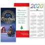 Merry Christmas 2020 Gold Foil-Stamped Holiday Greeting Card Calendar Mailable Calendar, Direct Mail Calendar, Customer Calendar Stick Up, Wall Calendar, Planner, The Positive Line, Business Calendar, Office Calendar, Business Gifts, Corporate Gifts, Sales and Marketing, Sales Meetings, Giveaways, Promotional Calendars, greeting card calendar, holiday greeting card, custom printed greeting card calendar