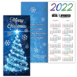 Merry Christmas 2021 Gold Foil-Stamped Holiday Greeting Card Calendar Mailable Calendar, Direct Mail Calendar, Customer Calendar Stick Up, Wall Calendar, Planner, The Positive Line, Business Calendar, Office Calendar, Business Gifts, Corporate Gifts, Sales and Marketing, Sales Meetings, Giveaways, Promotional Calendars, greeting card calendar, holiday greeting card, custom printed greeting card calendar