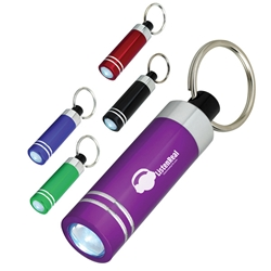 Mini Aluminum LED Light With Key Ring Mini Aluminum LED Light With Key Ring, Mini, Aluminum, Metal, LED, Light, with, Key Ring, tag, Key, Chain, Imprinted, Personalized, Promotional, with name on it, giveaway,