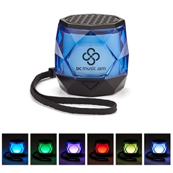Mini Colorful Diamond Wireless Speaker  Portable, Speaker, Disco Speaker, Light Up Spreaker, employee appreciation gifts, business gifts, giveaways, corporate gifts with your logo
