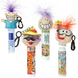 Custom Mint Lip Balm with Goofy Group Head | Care Promotions