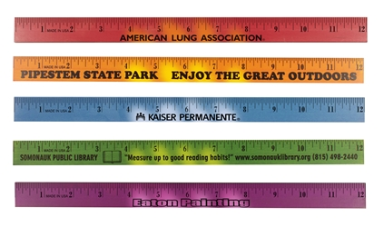 Custom Logo Mood Wood Ruler, 12"