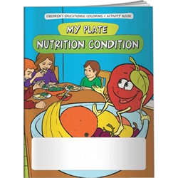 My Plate: Nutrition Condition Coloring Book My Plate: Nutrition Condition Coloring Book, BetterLifeLine, BetterLife, Education, Educational, information, Informational, Wellness, Guide, Brochure, Paper, Low-cost, Low-Price, Cheap, Instruction, Instructional, Booklet, Small, Reference, Interactive, Learn, Learning, Read, Reading, Health, Well-Being, Living, Awareness, ColoringBook, ActivityBook, Activity, Crayon, Maze, Word, Search, Scramble, Entertain, Educate, Activities, Schools, Lessons, Kid, Child, Children, Story, Storyline, Stories, Food, Nutrition, Diet, Eating, Body, Snack, Meal, Eat, Sugar, Fat, Calories, Carbs, Carbohydrate, Weight, Obesity, Snacks, Elementary, Food Plate, Pyramid,Imprinted, Personalized, Promotional, with name on it, Giveaway,