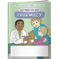 My Visit to the Pharmacy Coloring Book My Visit to the Pharmacy Coloring Book, BetterLifeLine, BetterLife, Education, Educational, information, Informational, Wellness, Guide, Brochure, Paper, Low-cost, Low-Price, Cheap, Instruction, Instructional, Booklet, Small, Reference, Interactive, Learn, Learning, Read, Reading, Health, Well-Being, Living, Awareness, ColoringBook, ActivityBook, Activity, Crayon, Maze, Word, Search, Scramble, Entertain, Educate, Activities, Schools, Lessons, Kid, Child, Children, Story, Storyline, Stories, Doctor, Sick, Medicine, Medication, Elementary, Imprinted, Personalized, Promotional, with name on it, Giveaway,