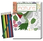 Nature Stress Relieving Coloring Book for Adults & Colored Pencils Set Coloring Books for Adults, Stress Relief, Adult Coloring Books, promotional coloring books