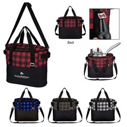 Northwoods Cooler Bag Cooler Bag, Checkered Pattern Tote, Checkered Cooler,  Personalized, Promotional, with name on it, Gift Idea, Giveaway, novelty pen, promotional pen, fidget spinner pen
