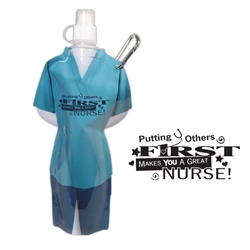 Nurse Flexi Bottle Flexi Bottle, Ultra-Lightweight bottle, Carabiner Water Bottle, Scrubs Waterbottle, drinkware, sporty, promotional products