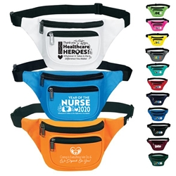 Nurses & Healthcare Appreciation Three Zippered Fanny Pack  Nurses Appreciation, Healthcare Team, Appreciation, Recognition, RN, promotional fanny pack, promotional waist pack, custom printed fanny pack, customized travel bag, custom logo fanny pack, promotional products