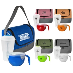 Nurses: Incredible, Dependable, Unforgettable! Lunch Cooler, Salad & Noodle Gift Bundle  Nurses Theme, Lunch Bag Gift Set, Lunch Bag Bottle Dish Set, Lunch Bag Promo Bundle, Imprinted, With Name On It, With Logo,
