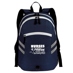 """Emergency Nurses Deserve Praise Every Day, In Every Way"" Balance Laptop Backpack  Laptop Backpack, Backpack, Imprinted, Travel, Custom, Personalized, Bag"