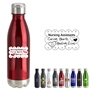 Nursing Assistants: Caring Hearts, Healing Lives 17oz. Vacuum Insulated Stainless Steel Bottle  Vacuum Sealed Bottles, Vacuum Top Bottle, Imprinted Vacuum Sealed Bottles, Stainless Steel Vacuum Sealed bottle, Care Promotions,