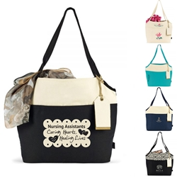 Nursing Assistants: Caring Hearts...Healing Lives Tori Cotton Fashion Tote  Nursing Assistants Theme Tote, Trendy Tote, Fashion Tote, Everyday Tote,, Basic, Promotional, Imprinted, with name on it, logo, custom bag, gift bag, baby bag, diaper bag, fashion bag