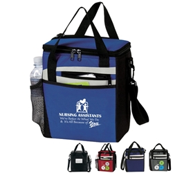 """Nursing Assistants: Were Better At What We Do & Its All Because of You!"" Rocket 12 Pack Cooler    Nursing Assistants theme lunch bag, Nurses theme lunch bag, Nurses week Theme lunch bag, lunch cooler, Rocket, 12 Pack Cooler, Plus, Continental Marketing, Care Promotions, Lunch Bag, Insulated, Barrel, Travel, Employee, Nurses, Teachers, Volunteers, Healthcare, Staff Gifts"