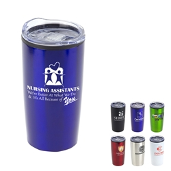 """Nursing Assistants: Were Better at What We Do & Its All Because Of You"" 20 oz. Stainless Steel & Polypropylene Tumbler  Nursing Assistants, CNAs, NA, theme, 20 oz tumbler, Imprinted Tumblers, Stainless Steel Tumblers, Care Promotions,"