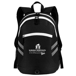 """Nursing Assistants: Were Better at What We Do & Its All Because Of You"" Balance Laptop Backpack   Nursing Assistants, NAs, CNAs, NA, Laptop Backpack, Backpack, Imprinted, Travel, Custom, Personalized, Bag"
