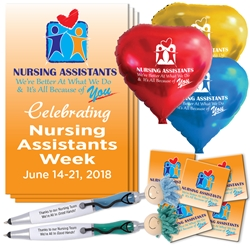 """Nursing Assistants: Were Better at What We Do & Its All Because Of You"" Celebration & Appreciation Pack  Poster, Buttons, Pens, Cups, Celebration Pack, Nursing Assistants theme Celebration Pack"