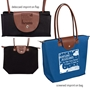 """Nursing Assistants: You Make Every Moment A Chance To Shine!"" Folding Tote with Leather Flap Closure   Nursing assistants week tote, CNA totes, nursing tote, theme, promotional tote bag, employee appreciation gifts, business gifts, custom logo tote, corporate holiday gift"