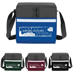 """Nursing Assistants: You Make Every Moment A Chance To Shine"" Two-Tone Accent 12-Pack Cooler   Nursing Assistants theme, NA, CNA, two tone, cooler, accent, lunch bag, 12 pack cooler, Promotional, Imprinted, Polyester, Travel, Custom, Personalized, Bag"