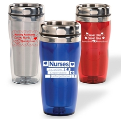 Nursing & Caring Team Curvy Tumblers Nurses theme, curvy tumbler, tumbler, beverage holder, travel tumbler, drinkware, sporty, promotional products