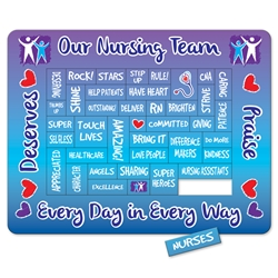 Nursing Team Praises of Praise Punch Out Picture Frame Magnet custom picture frame magnet, recognition magnet, Nurses, Nursing Staff,  appreciation magnet, promotional calendar magnet, promotional magnets, custom logo magnets,