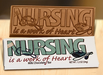 Nursing is a Work of Heart Chocolate Bar | Nurses Gifts | Care Promotions