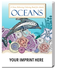 Oceans Stress Relieving Coloring Book for Adults Coloring Books for Adults, Stress Relief, Adult Coloring Books, promotional coloring books