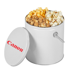 One Gallon Popcorn Trio Gift Tin holiday gifts, holiday food gifts, corporate holiday gifts, gift sets, popcorn gifts, employee appreciation, employee recognition, holiday parties