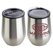 Onyx 12 oz Stainless Steel/Polypropylene Wine Goblet - DRK174