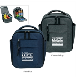 Our EVS & Housekeeping TEAM Deserves Praise Every Day in Every Way! Premium Vertical Cooler  Housekeeping, Housekeepers, Team, Appreciation, Theme, Vertical, cooler, lunch bag, 12 pack cooler, Promotional, Imprinted, Polyester, Travel, Custom, Personalized, Bag