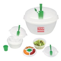 """Our EVS & Housekeeping TEAM Deserves Praise Every Day in Every Way!"" Salad Bowl Set  Housekeeping, Housekeepers, EVS, Environmental Services, Team, theme, Salad Bowl, Set, 3-piece, Salad, Shaker, Imprinted, Personalized, Promotional, with name on it, giveaway,"