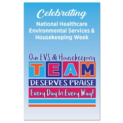 """Our EVS & Housekeeping TEAM Deserves Praise Every Day in Every Way!"" Theme 11 x 17"" Posters (Sold in Packs of 10)  Housekeeping Week, International Housekeepers Week, Environmental Services Week, Theme, Posters, Poster, Celebration Poster, Appreciation Day, Recognition Theme Poster,"