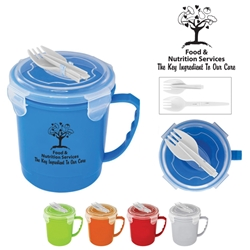 Our Food & Nutrition Service Teams Are SOUPER! Soup To Go  Soup Mug, Food Service, Nutrition Service, Souper, Soup Bowl, Soup Mug and Spoon, Soup Mug and Spork, Imprinted,  Personalized, customized