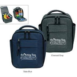 """Our Nursing Team: You Make A Difference In So Many Ways!"" Premium Vertical Cooler  Nursing Theme, Vertical, cooler, lunch bag, 12 pack cooler, Promotional, Imprinted, Polyester, Travel, Custom, Personalized, Bag"
