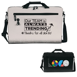 "Our TEAM is Always TRENDING # Thanks For All You Do! Sound Wave 17"" Hybrid Laptop Brief & Backpack  Laptop Brief Bag, Laptop Backpack, Brief and Backpack bag, Continental Marketing, Care Promotions, Lunch Bag, Insulated, Barrel, Travel, Employee, Nurses, Teachers, Volunteers, Healthcare, Staff Gifts"
