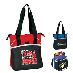 """Our TEAM is ON FIRE"" Bistro Insulated 6 to 8 Pack Cooler   Bistro Lunch Bag, Insulated Cooler, 8 pack cooler, 6 pack cooler, All Purpose, Elite, Zip, Polyester, Promotional Events, Trade Show Bags, Health Fair, Imprinted, Tote, Reusable, Recognition, Travel , imprinted"