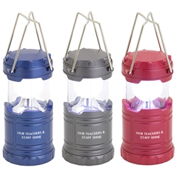 """Our Teachers & Staff Shine!"" Mini Retro Lantern  teachers, teacher, school staff, Theme, Mini Retro Light, Lantern, Light, Imprinted, Personalized, With Logo, Mini, Pop up,"