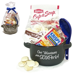 """Our Volunteers are SOUPerb!"" Soup Mug Gift Set 