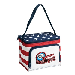 Patriotic Lunch Cooler lunch cooler, cooler bags, lunch bag, promotional bags, promotional products, USA, america, red, white, and blue, patriotic promotions,