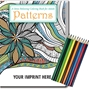 Patterns Stress Relieving Coloring Book for Adults & Colored Pencils Set Coloring Books for Adults, Stress Relief, Adult Coloring Books, promotional coloring books