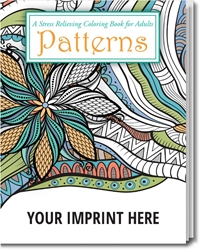 Patterns Stress Relieving Coloring Book for Adults Coloring Books for Adults, Stress Relief, Adult Coloring Books, promotional coloring books