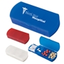 Pill Box/Bandage Dispenser Pill Box/Bandage Dispenser, Pill Box, Bandage, Dispenser, Case, and, Imprinted, Personalized, Promotional, with name on it, giveaway,