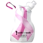 Pink Ribbon Breast Cancer Awareness Flexi Bottle breast cancer awareness merchandise, pink promotional items, pink ribbon gifts, pink ribbon promotional products, pink ribbon water bottle, breast cancer awareness month, walks and runs, cancer walk, cancer run, fundraisers
