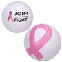 Pink Ribbon Breast Cancer Awareness Stress Reliever breast cancer awareness merchandise, pink promotional items, pink ribbon gifts, pink ribbon promotional products, pink ribbon stress reliever, breast cancer awareness month