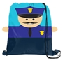 Police Officer Drawstring Sport Pack promotional cinchpack, promotional drawstring backpack, law enforcement promotional items, police promotional items