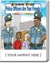 Police Officers Are Your Friends Sticker & Activity Book promotional coloring book, law enforcement promotional items, crime prevention promotional products, crime prevention month giveaways, crime prevention month handouts, police community affairs
